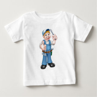 Personaje de dibujos animados de la manitas del camiseta de bebé