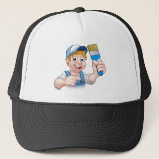 Personaje de dibujos animados de la manitas del gorra de camionero