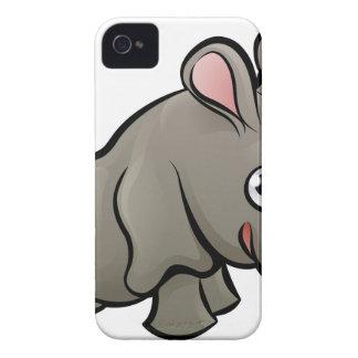 Personaje de dibujos animados de los animales del funda para iPhone 4