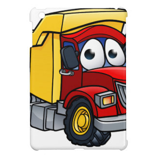 Personaje de dibujos animados del camión volquete