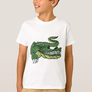 Personaje de dibujos animados del cocodrilo camiseta