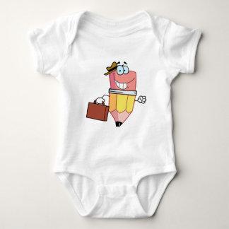 Personaje de dibujos animados del lápiz que lleva body para bebé