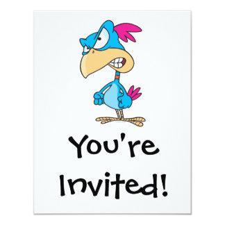 personaje de dibujos animados malo enojado lindo invitación 10,8 x 13,9 cm