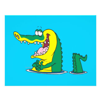 personaje de dibujos animados tonto del cocodrilo  tarjetón