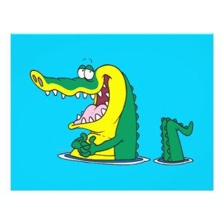 personaje de dibujos animados tonto del cocodrilo  folleto 21,6 x 28 cm
