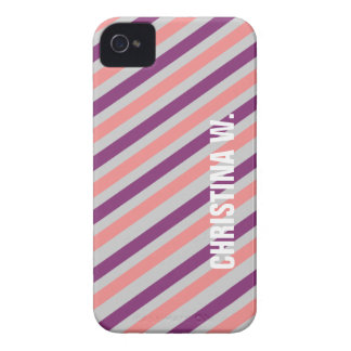 Personal conocido de encargo del modelo púrpura iPhone 4 Case-Mate cobertura