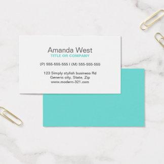 Personal elegante simple genérico moderno azul de tarjeta de negocios