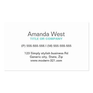 Personal elegante simple genérico moderno azul de tarjetas de visita