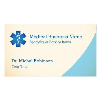 Personal médico de Asclepius - azul poner crema Tarjetas De Visita