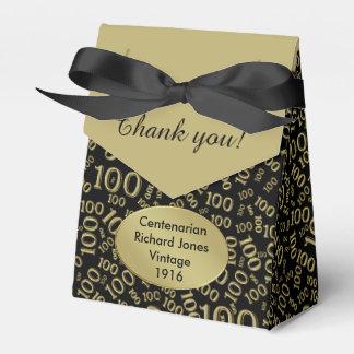 Personalice: 100o Oro del cumpleaños/Centenarian Caja Para Regalos