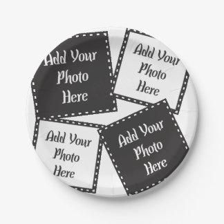 Personalice 4 placas de papel de las fotos plato de papel