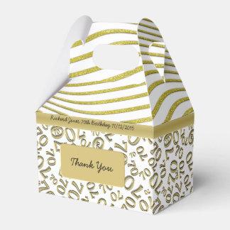 Personalice:  70.o Blanco del cumpleaños y tema Caja De Regalos