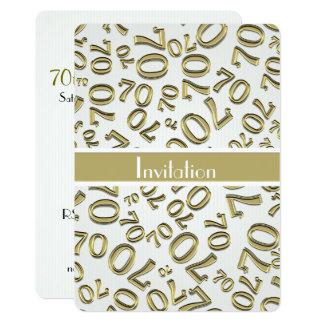 Personalice: 70.o Oro y fiesta de cumpleaños Invitación 12,7 X 17,8 Cm