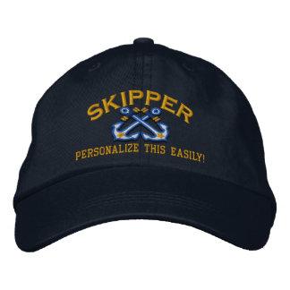 Personalice a este capitán conocido de la gorra bordada