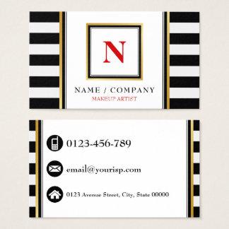Personalice al artista de maquillaje del monograma tarjeta de negocios