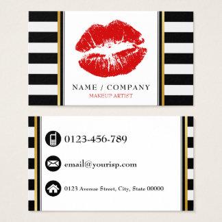 Personalice al artista de maquillaje tarjeta de negocios
