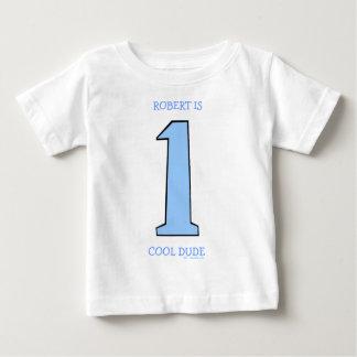Personalice al primer hijo del bebé del cumpleaños camiseta de bebé