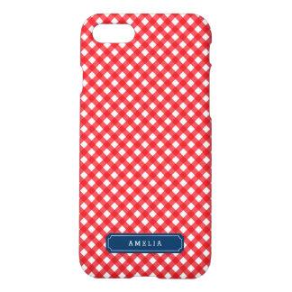 Personalice con el modelo rojo de la guinga de la funda para iPhone 7