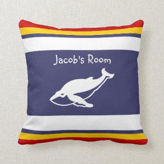 Personalice con la almohada conocida de la ballena