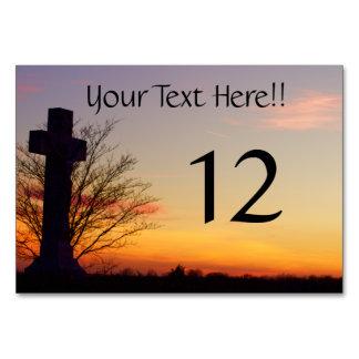 (Personalice) cruz santa en la puesta del sol