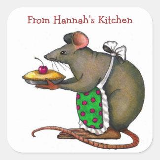 Personalice: De mi cocina: Rata linda Pegatina Cuadrada