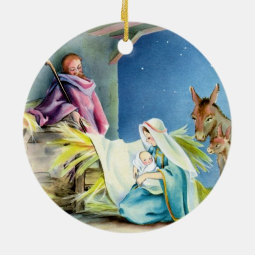 Personalice el ornamento religioso del tema ornamentos de navidad
