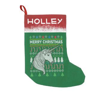 Personalice el suéter mítico del navidad del calcetín navideño pequeño