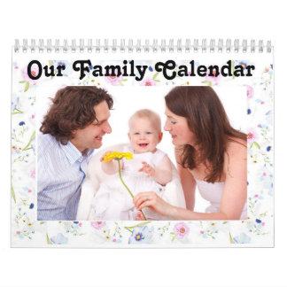 """Personalice este calendario de """"nuestra familia"""""""