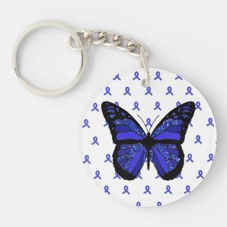 Personalice este llavero azul de la mariposa de