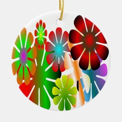 Personalice este ornamento del flower power ornamentos de navidad