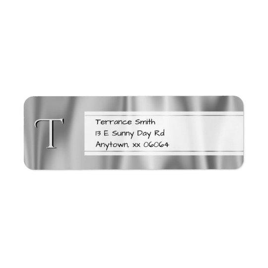 Personalice:  Falsa tela de satén de los gris Etiquetas De Remite