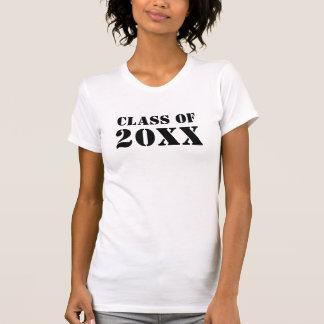 Personalice la clase de camisetas de la graduación