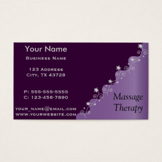 Personalice la elegancia púrpura tarjeta de negocios