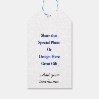 Personalice la misma imagen \ texto texto negro de etiquetas para regalos