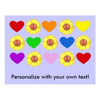 Personalice la postal de la paz del arco iris