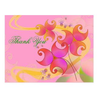 Personalice la postal de las flores del bonito