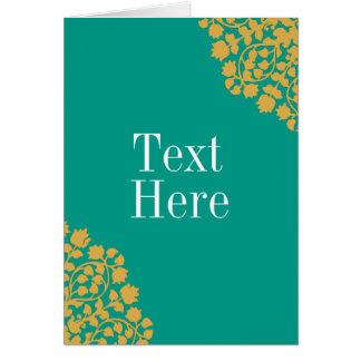 Personalice la tarjeta con acento floral