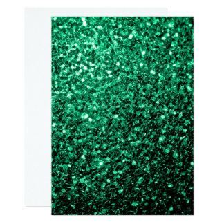 Personalice las chispas del brillo del verde invitación 12,7 x 17,8 cm