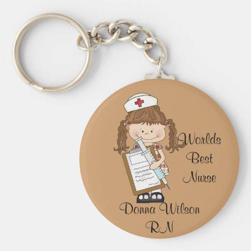 ¡Personalice los regalos triguenos de la enfermera Llavero Personalizado
