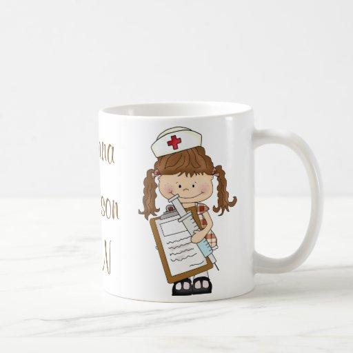 ¡Personalice los regalos triguenos de la enfermera Taza De Café