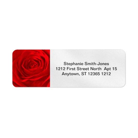 Personalice: Resuma la fotografía floral del rosa Etiquetas De Remite