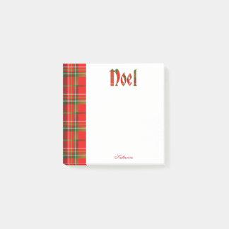 Personalice: Tipografía del tartán del navidad de Notas Post-it®