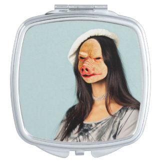 ¡Personalíceme! Espejo conocido vertical (mujer Espejo Compacto