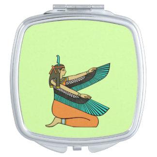 ¡Personalíceme! Espejo egipcio de la diosa Espejos De Viaje