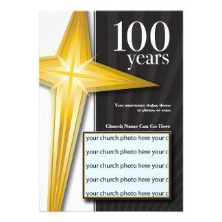 Personalizable aniversario de la iglesia de 100 añ anuncio personalizado