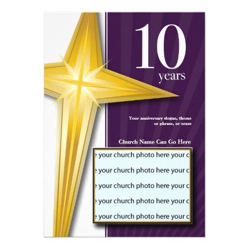 Personalizable aniversario de la iglesia de 10 comunicado personal
