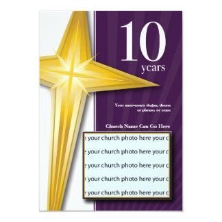 Personalizable aniversario de la iglesia de 10 invitación 12,7 x 17,8 cm