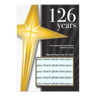 Personalizable aniversario de la iglesia de 126 añ comunicados