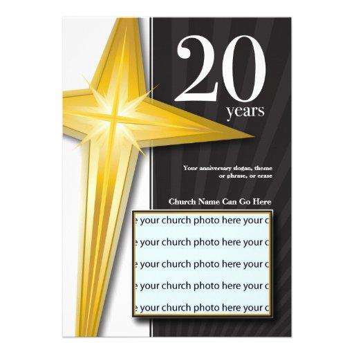 Personalizable aniversario de la iglesia de 20 año anuncio