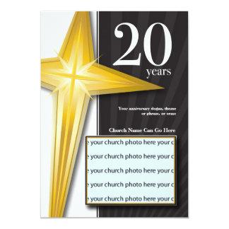 Personalizable aniversario de la iglesia de 20 invitación 12,7 x 17,8 cm